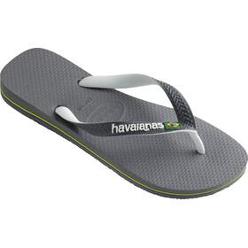 havaianas Brasil Mix sandaalit, steel grey/white/white